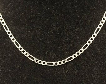 """22%OFF Sterling 3mm Figaro Chain / Necklace 20"""" - AGI Italy - Circa 1980's - Item SN124"""