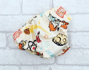 Baby Boy Nappy Cover // Diaper Cover with Space Boy 0-3 months // Baby Bloomers // Baby knickers // Baby pants // Baby Clothes