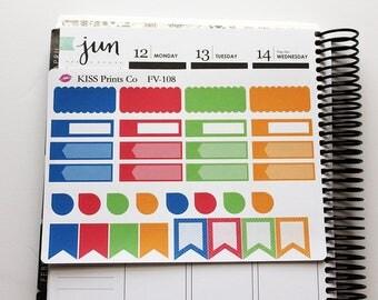 Sweet Taste of Summer Functional Planner Stickers!  Perfect for the Erin Condren Planner! FV-108