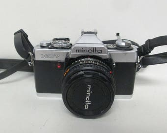Minolta XG 7 with MD Rokkor-X 45 mm 1:2 Lens Made in Japan
