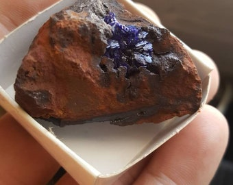 Fine azurite crystal specimen