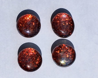 Red Sparkle Magnets - Red Glitter Magnets - Glittery Office Supplies - Red Office Supplies