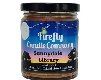 Sunnydale Library Soy Candle- Buffy the Vampire Slayer Inspired Candle-8oz