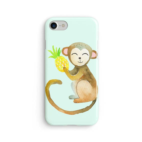 Cheeky monkey watercolor - iPhone 7 case, samsung s7 case, iphone 7 plus case, iphone se case 1P027