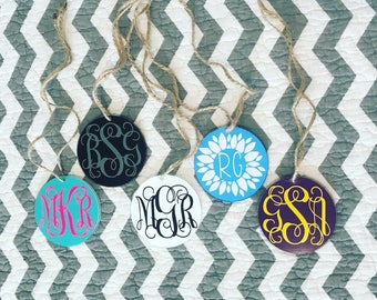 Monogram Rear View Mirror Hanger-Monogram-Car Accessories-Car Style-Personalized-Custom-Mirror Ornament