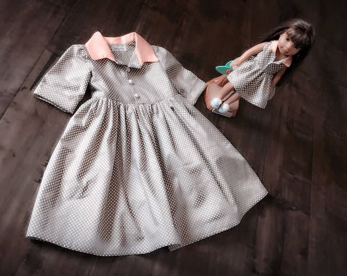 "Classic Dress and matching 18"" doll dress set"