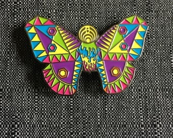 Bassnectar Butterfly Hat Pin- bassnectar, festival accessories, hat pins, butterfly pins, pins and patches, festival, bassnectar art