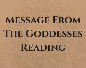 Message From The Goddesses, Tarot Reading, Oracle Card Reading, Psychic Reading, Spiritual Guidance