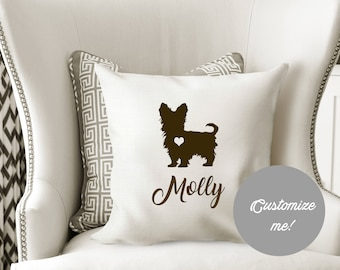 Personalized Yorkshire Terrier Pillow Cover