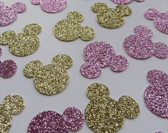 Minnie Mouse confetti - Pink and Gold GLITTER *FREE SHIPPING!