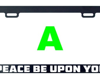 Peace be upon you license plate frame tag holder decal sticker