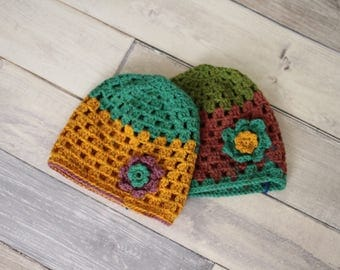 Kids Hat Basic Crochet Beanie Kids Beanie Spring Flower
