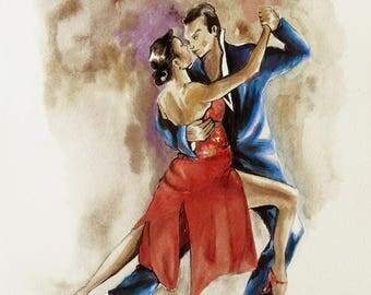 Argentine Tango, painting