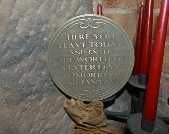 Free Shipping Disney Walt Disney World Magic Kingdom entranceway plaque