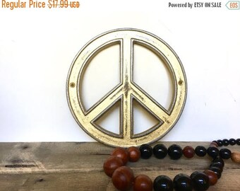 ON SALE Vintage Style Peace Sign Decor - Pick Your Color - Bohemian Nursery Decor - Gold Boho Decor - Peace Sign Wall Art - Christmas Gifts