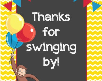 Curious George Thank You Sign