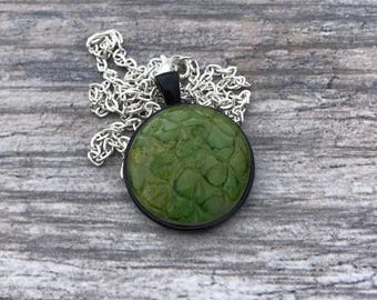 Green Dragon Scales Pendant. Mermaid Scales Necklace. Magic. Fantasy. Dragon Skin. Dragon Egg. Gifts for Her. Mythological