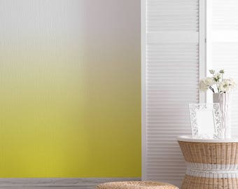 Yellow Vignette Wallpaper, Yellow and White Interior Design for Home and Business