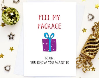 Funny girlfriend Christmas card, Naughty Christmas card, Wife Christmas card, Gay card, Funny Holiday card, Card for her