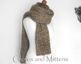 Men's Long Knit Scarf, Wool Unisex Scarf, Very Long Scarf, Oversize Scarf, Mens Clasic Scarf, Warm Winter Scarves, Christmas Gift for Man