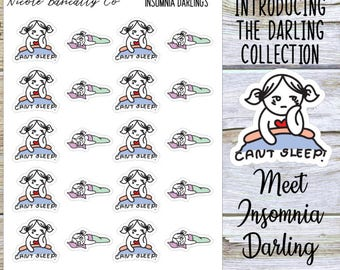 Insomnia Darlings Planner Stickers