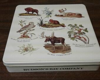 Hudson Bay Company Chocolate Tin, Animals of Canada Tin