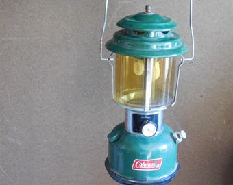 Coleman Vintage Lantern  Modal # 220 J From the 70s Double Mantle