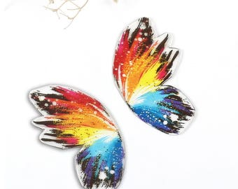 Resin Butterfly Wing Pendant