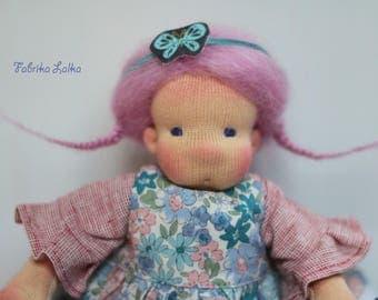Stella, tiny waldorf doll