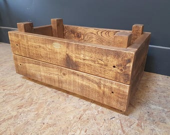 Rustic Raised Wooden Planter Box (Handmade UK)