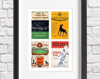 Wolves Programme Print