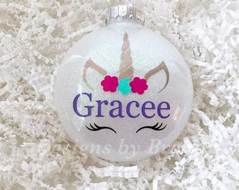 Unicorn ornament // personalized unicorn Christmas ornament // Personalized Unicorn // Christmas Ornament