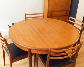 Gplan Vintage Dining Table and Six Chairs