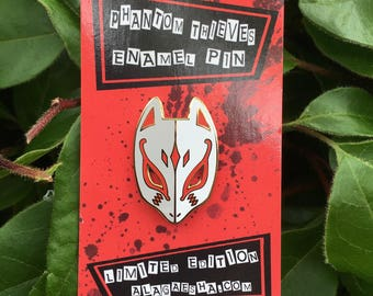 Fox Mask Enamel Pin