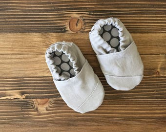Grey Toms Inspired Soft Sole Baby Shoe