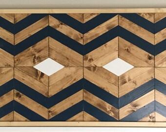 Wood Wall Decor, Wood Wall Art, Geometric, 37 x 21, Modern Decor