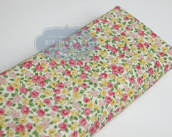 Japanese flower pink liberty type fabrics