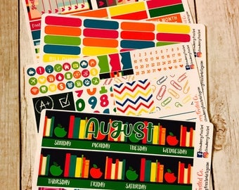 August (School Days)---- Monthly Planner Kit ---- {Includes 160+ Stickers}
