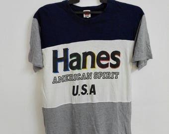 Vintage Hanes American Spirit U.S.A Tshirt Size Large