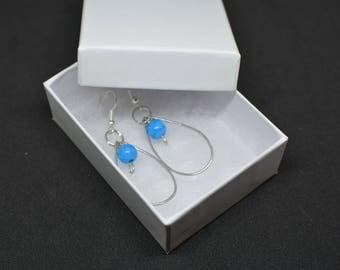 Blue Wire Earrings