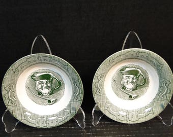 "TWO Royal China The Old Curiosity Shop Berry Bowls 5 1/2"" Set of 2 EXCELLENT!"