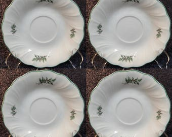 FOUR Nikko Happy Holidays Saucers Set of 4 EXCELLENT!