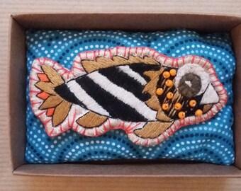 Torpedo fish brooch