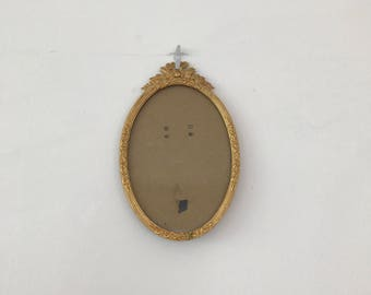Vintage French gilted oval frame