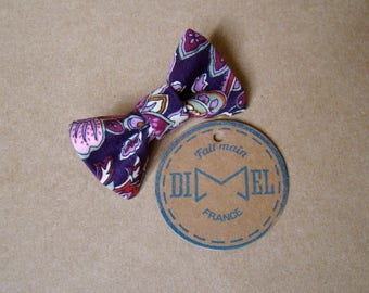 bowtie girl purple woman floral hair clip
