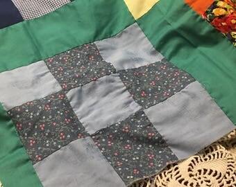 Rainbow Patchwork Quilt Top Layer/ Patchwork Quilt Top Piece/ Rainbow Baby Photo Prop