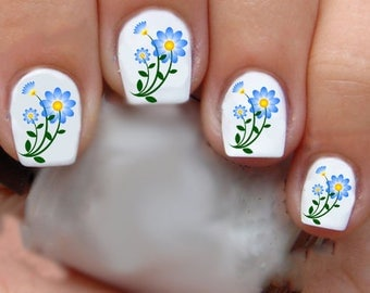 1327 Flowers Waterslide Nail Art Decals Enough For 2 Manicures