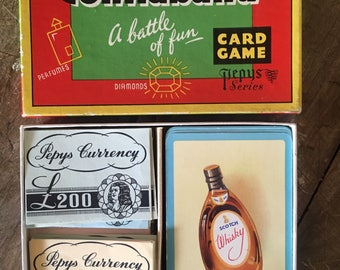 Contraband, 1950s game, smuggling, kitsch game, retro game, altered arts, picture cards, Pepys game, pictures for cards, craft pictures,