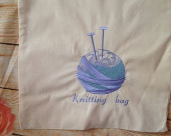 Personalised Reusable Shopping Bag, Knitting Bag, Tote Bag, Gift Bag, Craft Bag, Shopper, Personalised