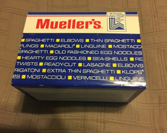 Mueller's 1980 Olympics 3x5 Recipe Card Box